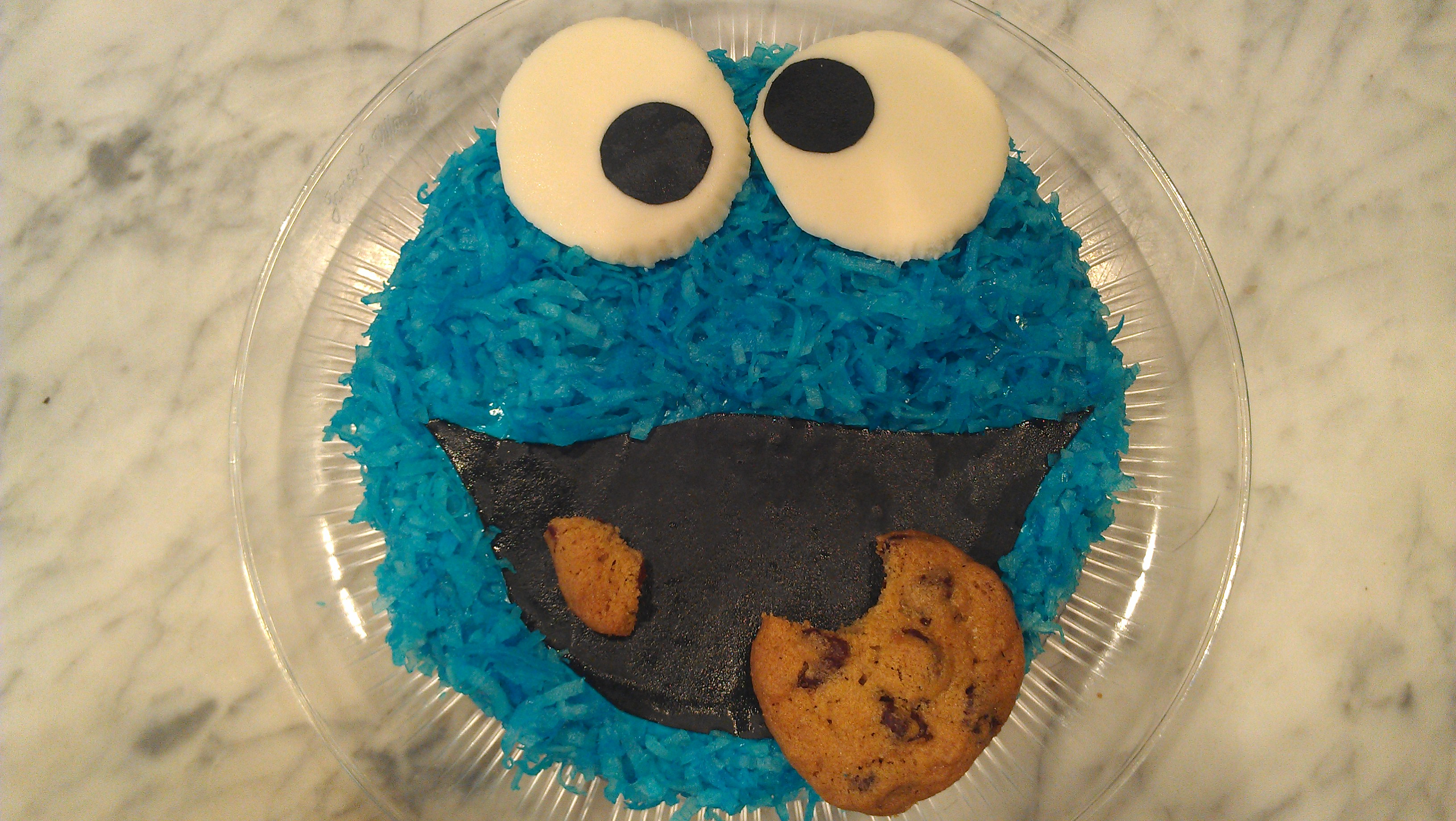 Cookie Monster Edible Cake Image
